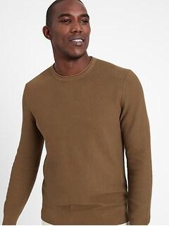 SUPIMA® Waffle-Knit Sweater