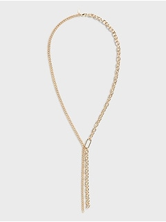 Long Chain Lariat Necklace