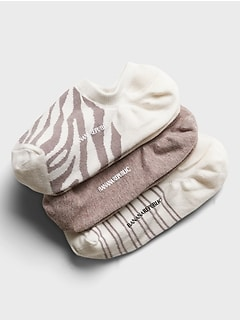 Zebra No Show Sock 3-Pack