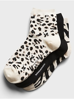 Animal Ankle Sock 3-Pack