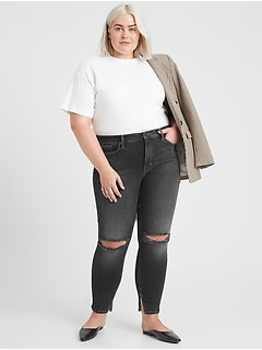 Mid-Rise Skinny Jean with Split Hem