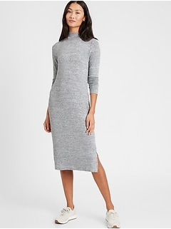 Luxespun Mock-Neck Dress