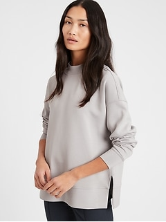Scuba-Knit Tunic Sweatshirt