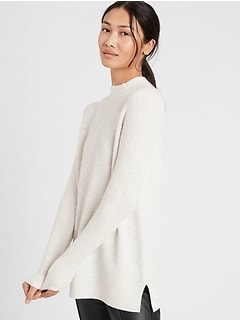 Mock-Neck Sweater Tunic