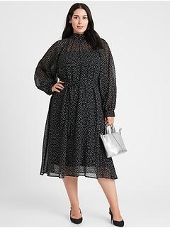 Velvet Dot Midi Dress