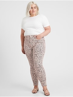 High-Rise Skinny Animal Print Jean
