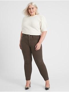 Mid-Rise Skinny Plaid Jean