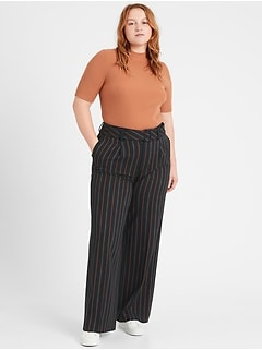 High-Rise Slim Wide-Leg Pant