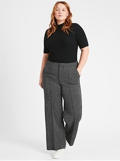 Slim Wide-Leg 24-Hour Ponte Pant