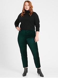 Curvy Mid-Rise Skinny Velvet Pant