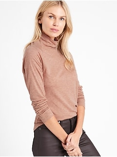 Petite Heritage TENCEL™-Wool Turtleneck T-Shirt