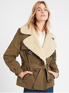 Petite Heritage Sherpa-Collar Jacket