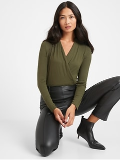 Petite Threadsoft Wrap Top