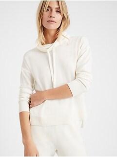 Washable Merino Funnel-Neck Sweater