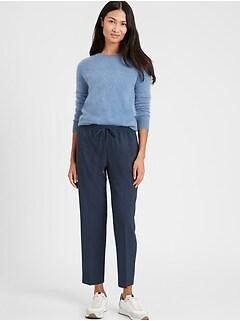 Pantalon à enfiler en mélange de laine lavable