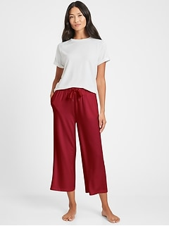 Baby Terry Cropped Lounge Pant