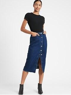 Denim Midi Skirt