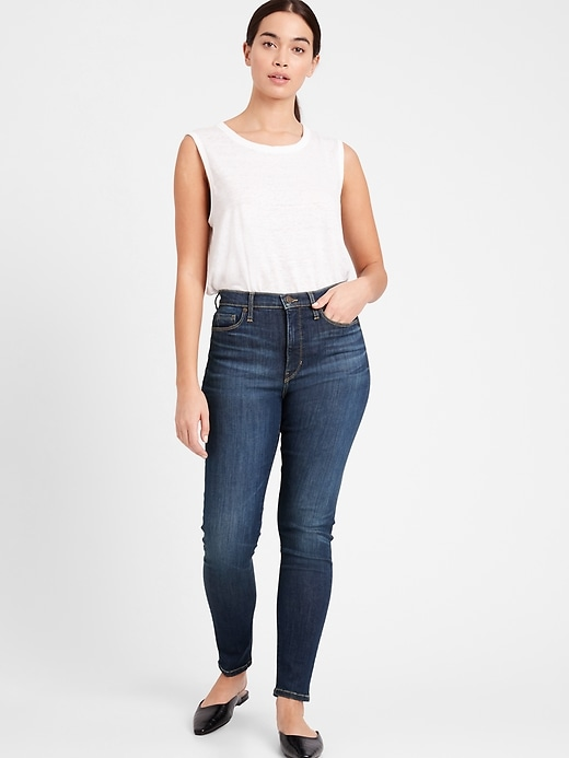 Petite Curvy High-Rise Skinny-Fit Jean