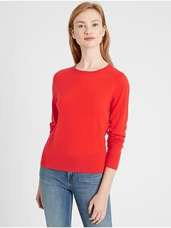 Petite Washable Merino Crew-Neck Sweater