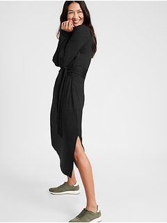 Petite Luxespun Tie-Waist Dress