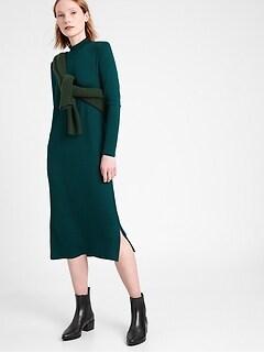 Petite Luxespun Mock-Neck Dress