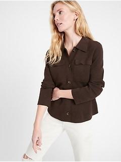 Sweater Shirt Jacket
