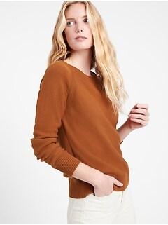 Organic Cotton Scoop-Neck Sweater