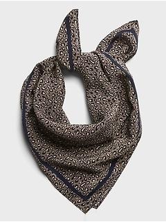 Leopard Print Silk Bandana