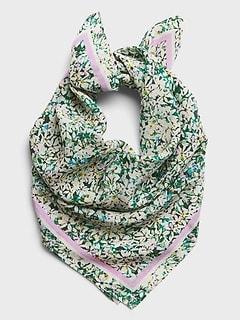 Ditsy Floral Silk Bandana