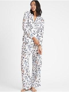Linen-Cotton Pajama Pant Set