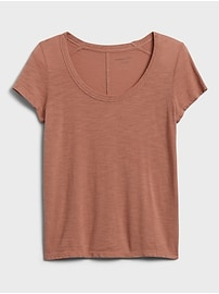 Slub Cotton-Modal Scoop-Neck T-Shirt