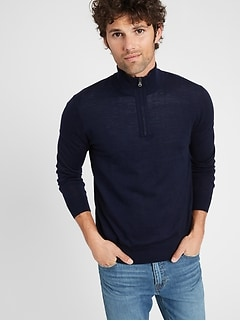 Merino Half-Zip Sweater in Responsible Wool