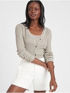 Petite Silk-LENZING™ ECOVERO™ Cardigan Sweater
