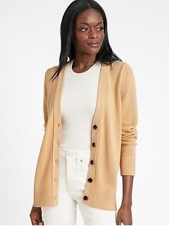 Cotton-Hemp Long Cardigan Sweater