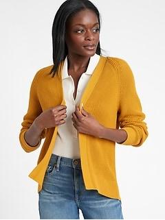 Organic Cotton Open Cardigan Sweater