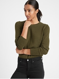 Cotton-Hemp Crew-Neck Sweater