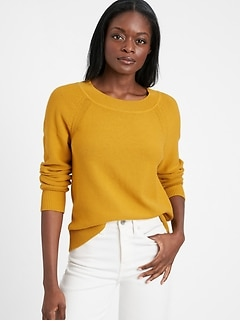 Organic Cotton Scoop-Neck Sweater