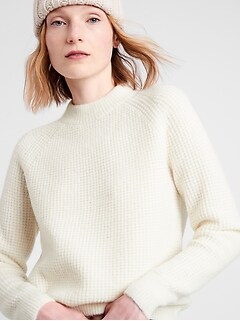 Petite Aire Waffle-Knit Sweater