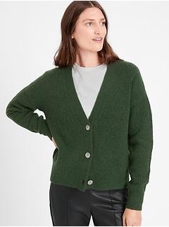 Chandail cardigan en tricot gaufré Aire, Petite
