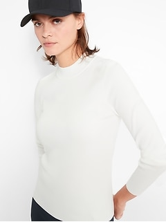 Petite Mock-Neck Sweater Top