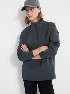 Petite Scuba-Knit Sweatshirt Tunic