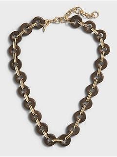 Wood Link Necklace