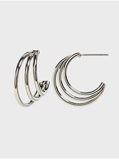 Multi Ring Hoop Earrings