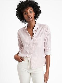 Stripe High-Low Shirt