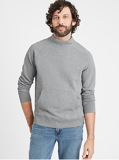 Mock-Neck Sweatshirt