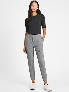 Petite High-Rise Tapered Performance Stretch Pant