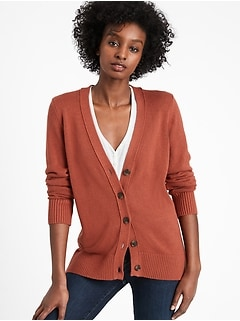 Cardigan long en coton et chanvre