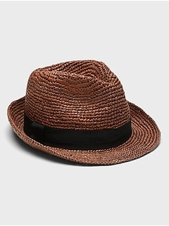 Packable Raffia Fedora