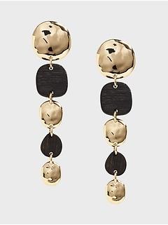 Mixed Wood Linear Earrings