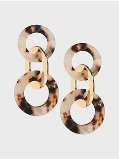 Triple Drop Resin Earrings
